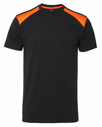 T-shirt svart och orange