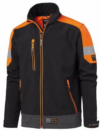 Arbetsjacka softshell jacka svart orange