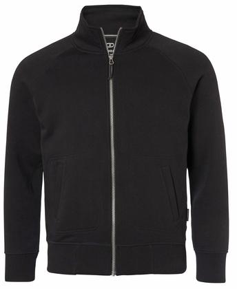 Full-Zip Raglan Sweatshirt Svart