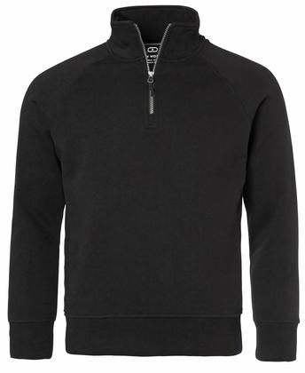 Half-Zip Raglan Sweatshirt Svart