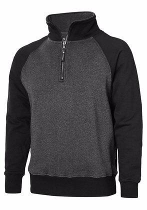 Sweatshirt half-zip svart grå