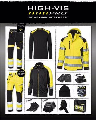 Höstpaket arbetskläder varselkläder gul