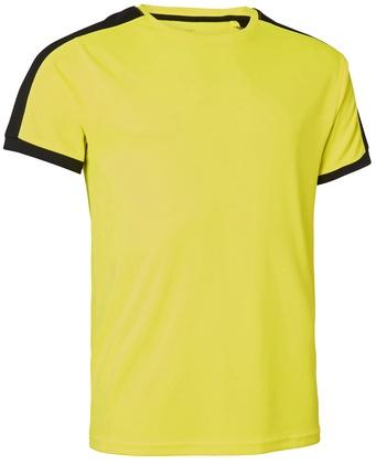 Quick Dry Contrast T-shirt Gul/Svart