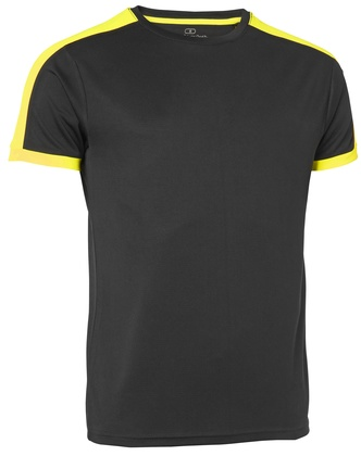 Quick Dry Contrast T-shirt Svart/Gul