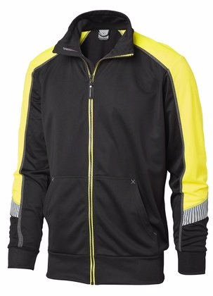 Sweatshirt med dragkedja svart gul