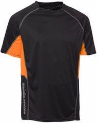 funktionst-shirt svart orange