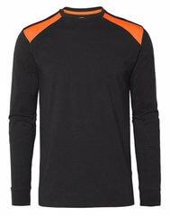 Långärmad t-shirt svart och orange