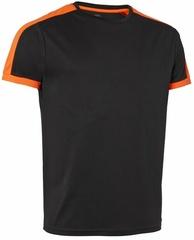 Quick Dry Contrast T-shirt Svart/Orange