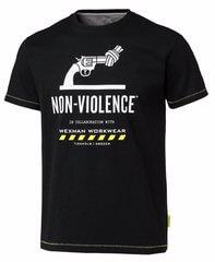 Bomulls t-shirt med tryck svart