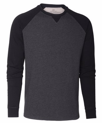 långärmad t-shirt svart grå