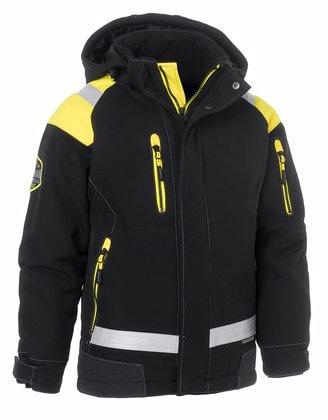 Arbetsjacka barn vinter svart gul