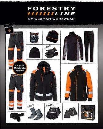Vinterpaket Arbetskläder svart orange