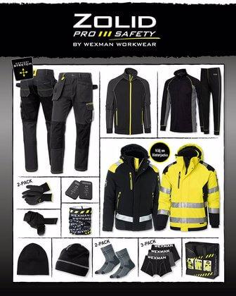 Vinterpaket Arbetskläder svart gul