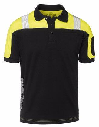 svart gul pike med reflexer
